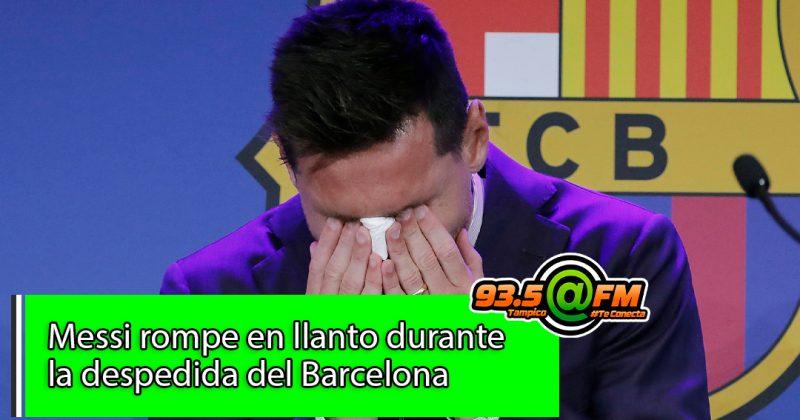 Messi rompe en llanto con la emotiva despedida del Barcelona ¿Cuál será su nuevo equipo?