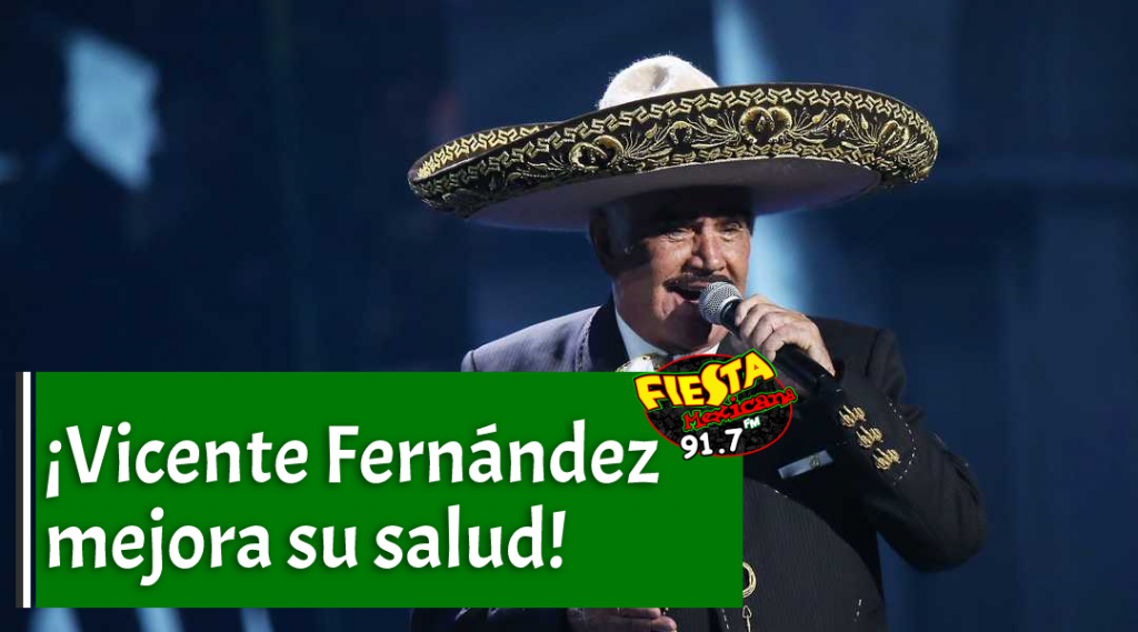 ¡Vicente Fernández poco a poco mejora su salud!
