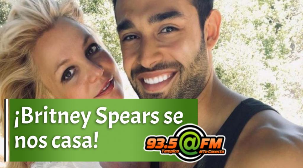 ¡Britney Spears mostró el anillo de compromiso que le dio Sam Asghari!