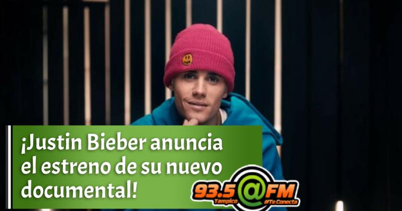Justin Bieber anuncia el estreno de su nuevo documental